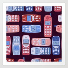 Vintage Cellphone Reactions Art Print