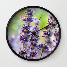 Lavender Flowers #1 #floral #art #society6 Wall Clock
