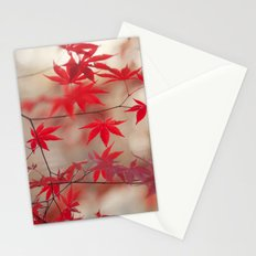 Cream and Red Stationery Cards