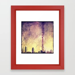 Sky Crashes Down Framed Art Print