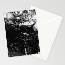 Reflecting Pond (Black & White) Stationery Cards