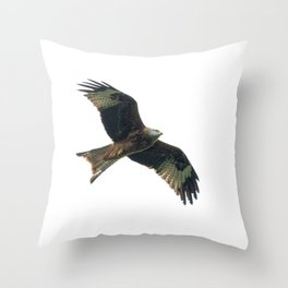 Red Kite in flight Throw Pillow