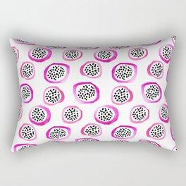 Watercolor Dragon Fruits Rectangular Pillow