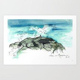 Tom in Muxia Art Print