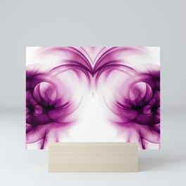 abstract fractals mirrored reacdei Mini Art Print