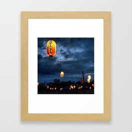 Obon lights Framed Art Print