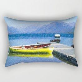 Lake McDonald Boats Rectangular Pillow