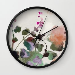 floral abstract summer autumn Wall Clock