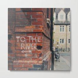 To the River Cambridge photograph Metal Print