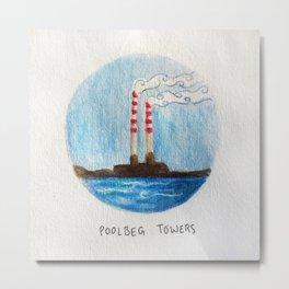 Poolbeg Towers Metal Print