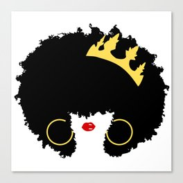 Mommy's Night Out   Natural Hair Art   Girls Night Out   Black Moms   Afro Art   Royalty Canvas Print