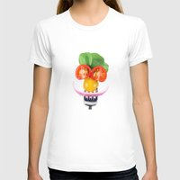 vegetables T-shirts featuring Happy Vegetables by Chantal Seigneurgens