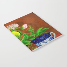 Teacups with Snap Peas Notebook