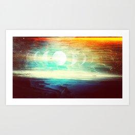 Lunar Phase Beach Art Print