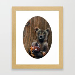 """Rumbly in My Tumbly"" Framed Art Print"