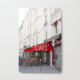 Cafe in Paris Metal Print