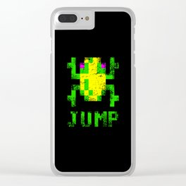Frogger Jump Clear iPhone Case