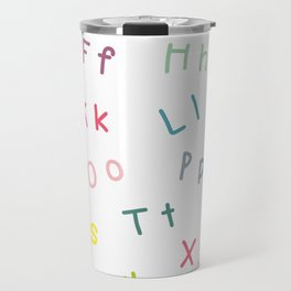 An Alphabet Travel Mug