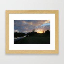 Sunset over intercoastal Framed Art Print