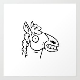 Mr Horse Art Print