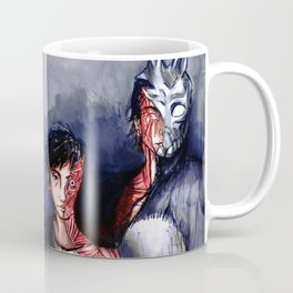 Why are you wearing that stupid man suit? Coffee Mug