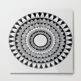 A4 Mandala 5 Metal Print