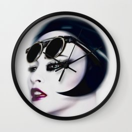 Retro Muse / 5 Wall Clock