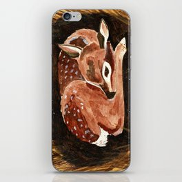 Before the First Snow (Fawn/ White tailed Deer) iPhone Skin