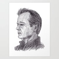 bill murray Art Prints featuring Bill Murray by jamestomgray