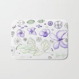 Violet Watercolor Bath Mat