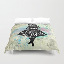 Alice in Wonderland - I Was A Different Person Then Duvet Cover