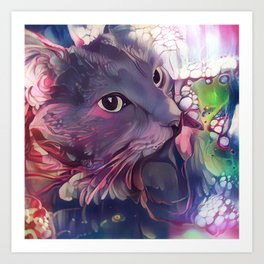 Catnip Mellow (Electric Catnip) Art Print