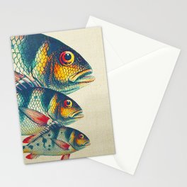 Fish Classic Designs 3 Stationery Cards