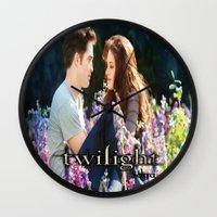 saga Wall Clocks featuring Twilight Saga by ezmaya