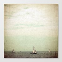 sail Canvas Prints featuring Sail by Hilary Upton