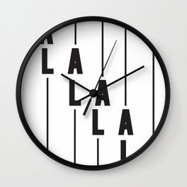LA Los Angeles Wall Clock