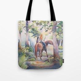 Quiet Woodland Horse Ride Tote Bag
