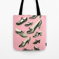 shoe Tote Bags featuring Shoe Fetish by Cassia Beck