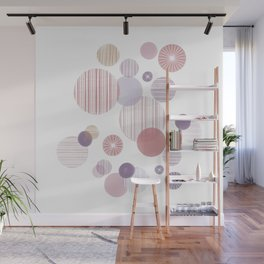Effervescence in Mauve Wall Mural