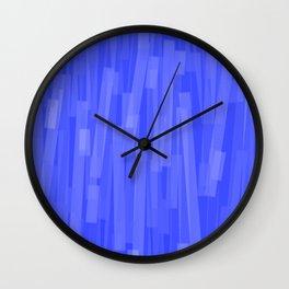 Geometric Blue White Painting Wall Clock