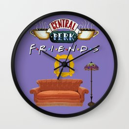 Classic Friends, purple Wall Clock
