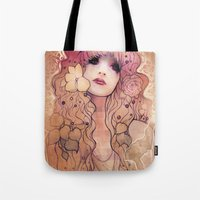 laura palmer Tote Bags featuring Laura by Megan Lara