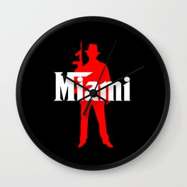 Miami mafia Wall Clock