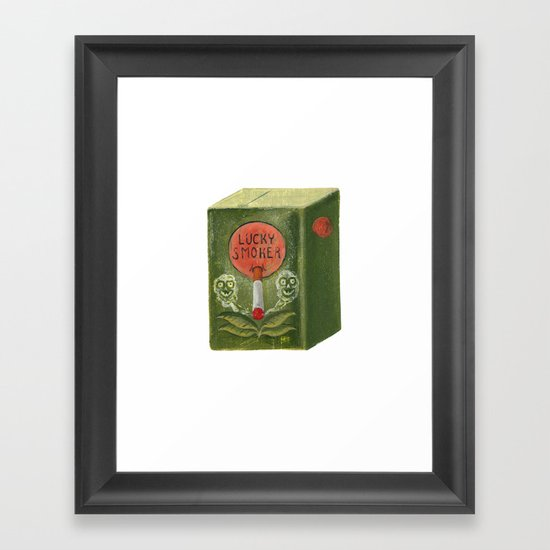 lucky smoker Framed Art Print