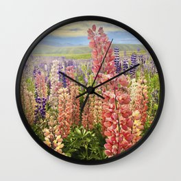 Lupines Wall Clock