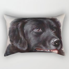 The Newfoundland Dog - Carl Reichert Rectangular Pillow