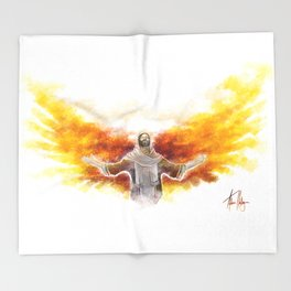 On Wings Like Eagles (Isaiah 40:31) Throw Blanket
