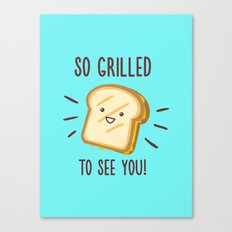 Cheesy Greetings! Canvas Print