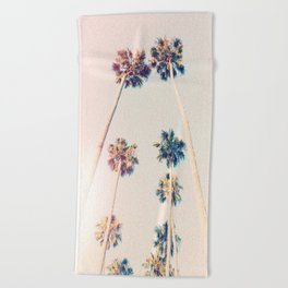 Vintage Pastel Palm trees Beach Towel