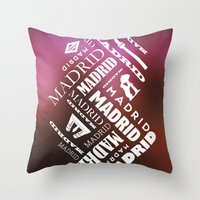 madrid Throw Pillows featuring Madrid by Rafael CA